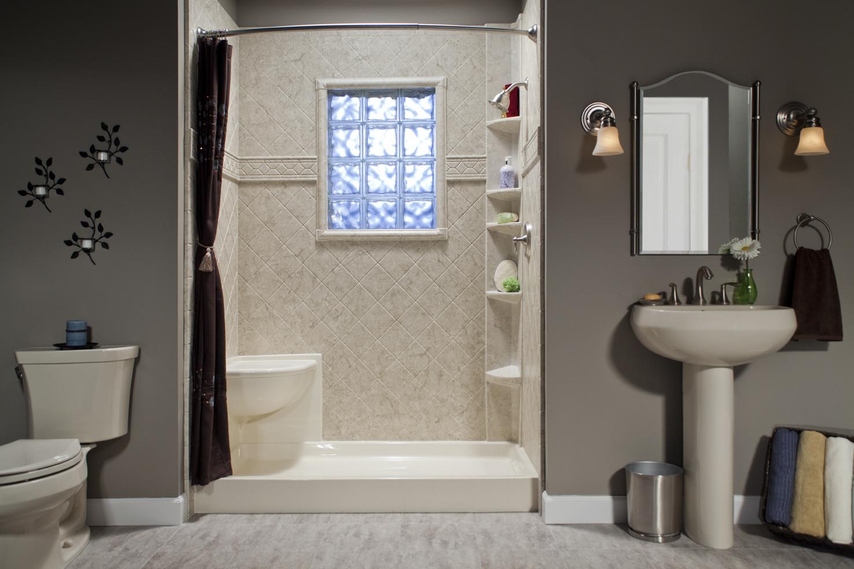 Bathroom Remodel Temporary Shower