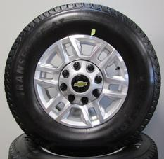"CHEVY 8 LUG 17"" ALLOYS WITH AT TIRES"