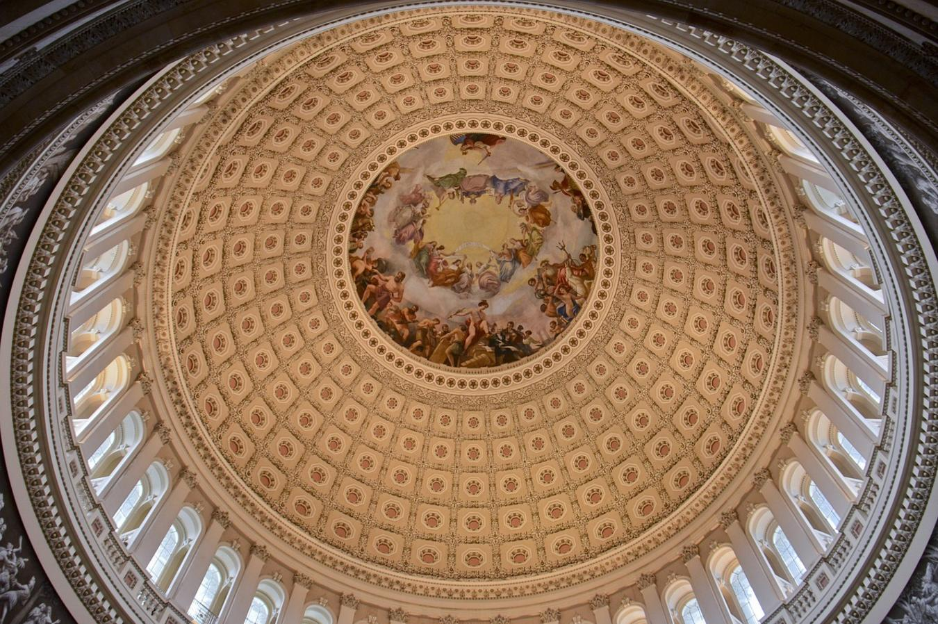looking up into dome in Congress