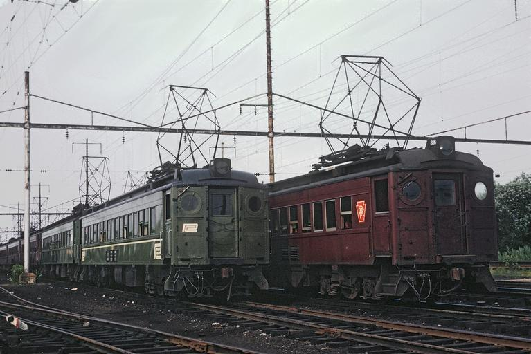 EMUs at the West Yard, Wilmington, Delaware, ca. 1969. Photo by Roger Puta.