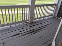 water damaged deck boards