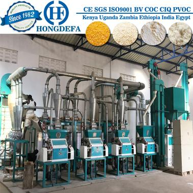 30t/24h maize flour milling for posho flour.