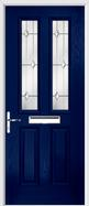 2 panel 2 square composite door regal opal glass