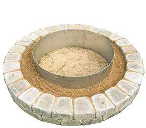 "alt=""stainless steel fire pit liner ring"""