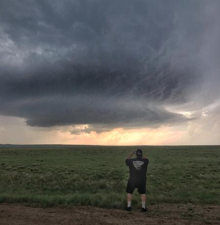 Monster supercell in Wyoming during one of our weather tours