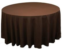 "120"" BROWN TABLECLOTH"