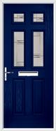 2 Panel 4 Square Composite Door regal corenet glass