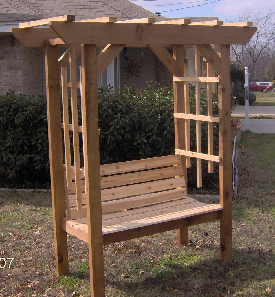 Lovely Park Style Arbor Bench PG63