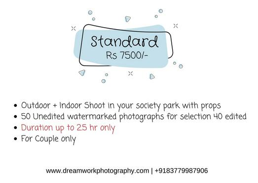 Our Maternity photo shoot package starts from Rs. 6500 in Noida for outdoor pregnancy photo session.