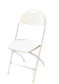 White folding chairs hahn rentals