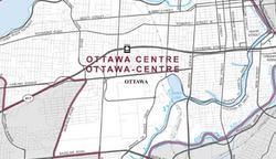 map of Ottawa Centre including Civic Hospital Area, The Glebe, Dow's Lake, Landsdowne, Centretown Ottawa, Island Park, Westboro, Hintonburg, Ottawa's Little Italy, Parkdale, Lebreton Flats