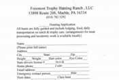 Foremost Hunting Application