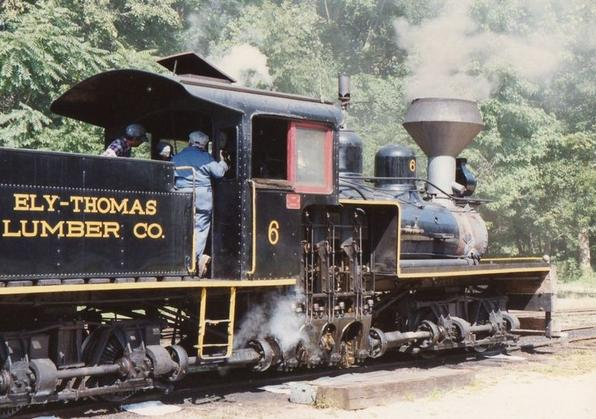 Ely-Thomas Lumber Company No. 6 operating at New Jersey Museum of Transportation.