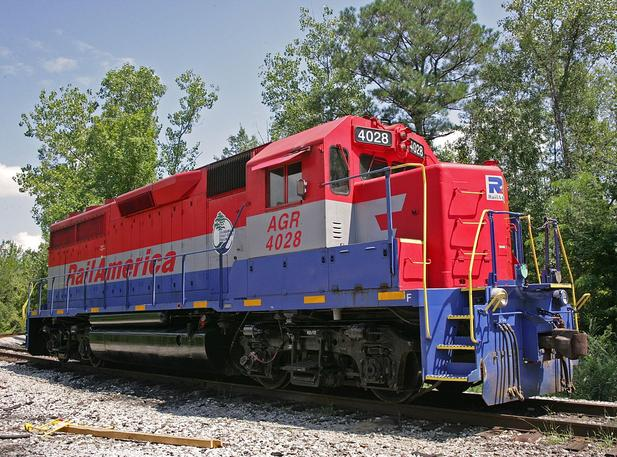 Alabama and Gulf Coast Railway EMD GP40 No. 4028.