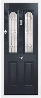 2 panel 2 arch composite door anthracite grey