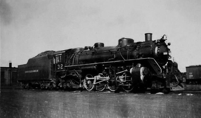 Detroit and Toledo Shore Line 2-8-2 number 32.