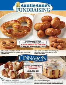 Auntie Anne's and Cinnabon Fundraiser Brochure