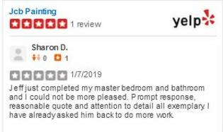 yelp review of Jcb Painting
