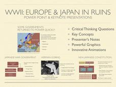 Europe and Japan In Ruins History Presentation