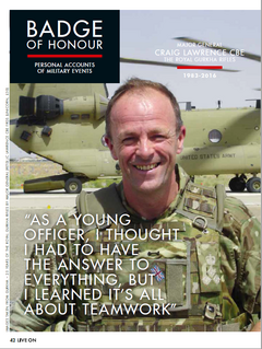 Craig Lawrence article in Royal British Legion Magazine