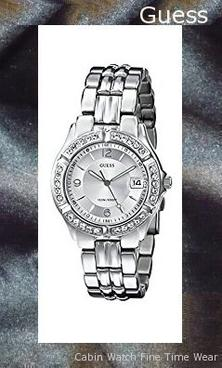 Steel Crystal Accented Watch, Color: Silver-Tone (Model: G75511M)​,guess outlet