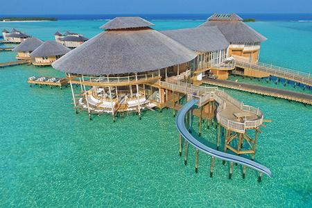 SONEVA JANI MALDIVES: Overwater bungalows with water slides
