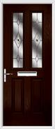 2 Panel 2 Square Composite Door fusion glass