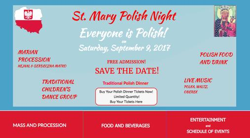 Join us for a Traditional Polish Dinner at St Mary Polish Night in Kalamazoo Michigan and enjoy great Polish food while learning about Polish Culture, Polish Catholic Faith, Polish Music, Polish Dance, Polish American Culture, and much more
