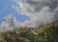 Thunderhead, plein air pastel miniature by Lindy C Severns
