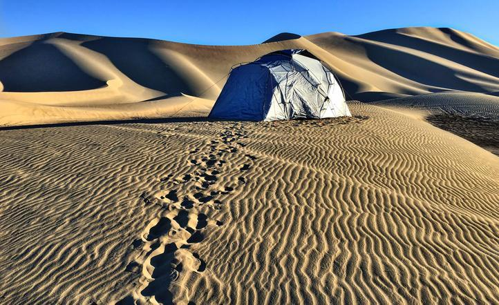 The No Bake Tent on a Sand Dune in the Desert