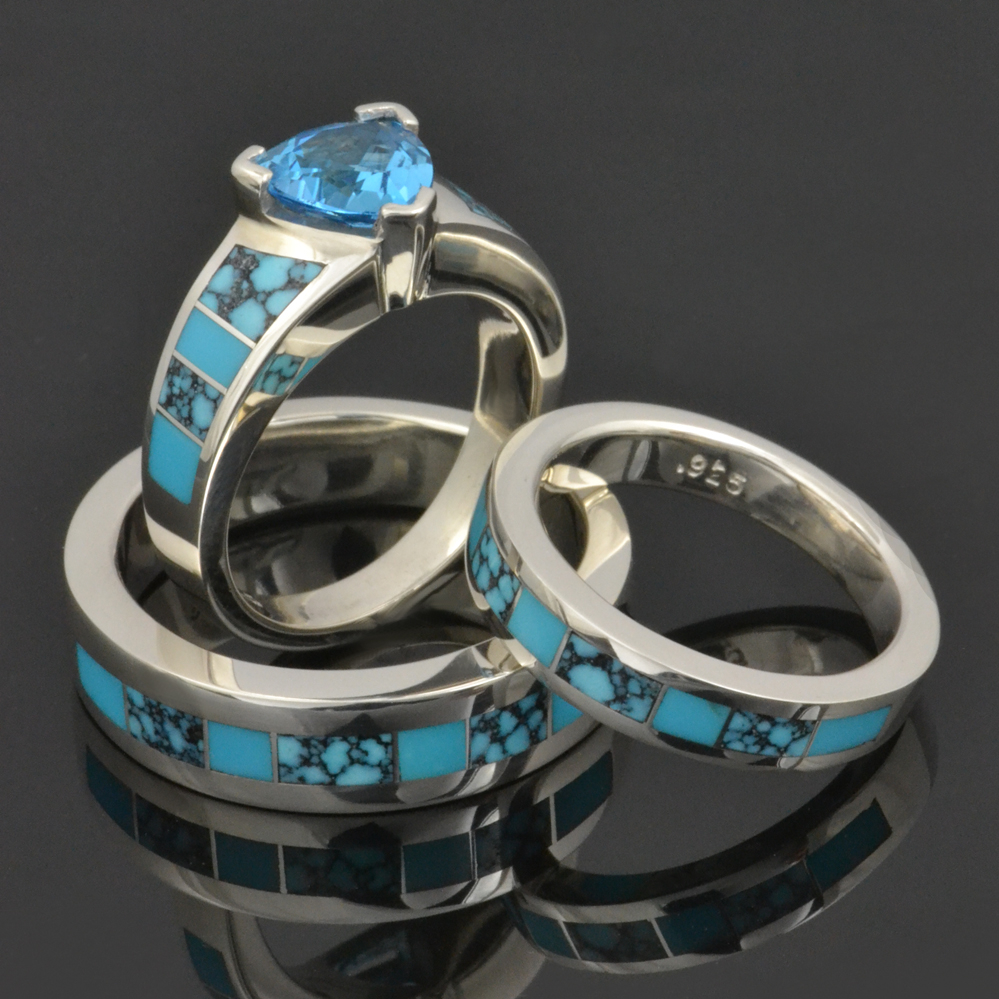 Turquoise Wedding Rings and Wedding Sets | Shop Turquoise Rings