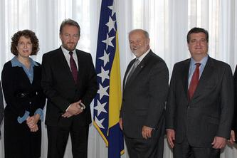 Maryland tax attorney Charles Dillon meeting with the President of Bosnia and Herzegovina and other dignitaries