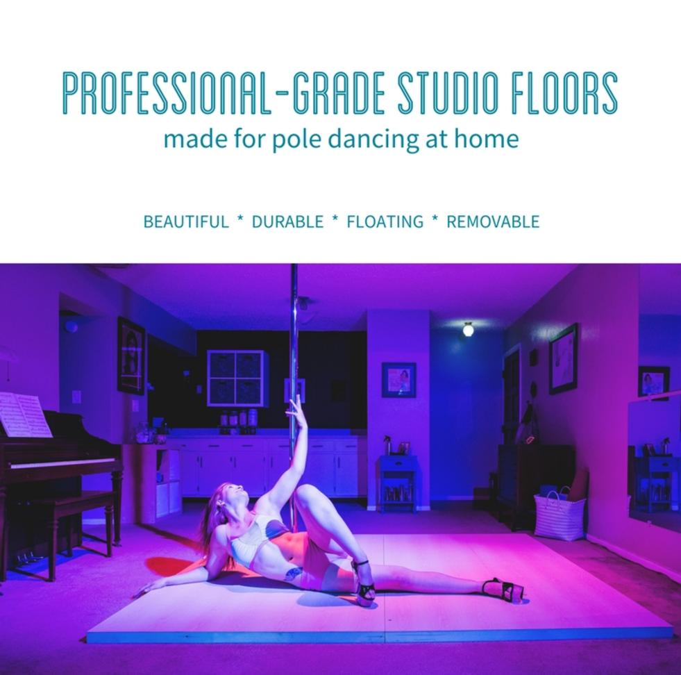Professional-Grade Studio Floors Made For Pole Dancing at Home