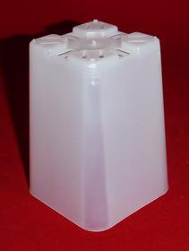 clear plastic orchid pot 2.25 inch square slots small
