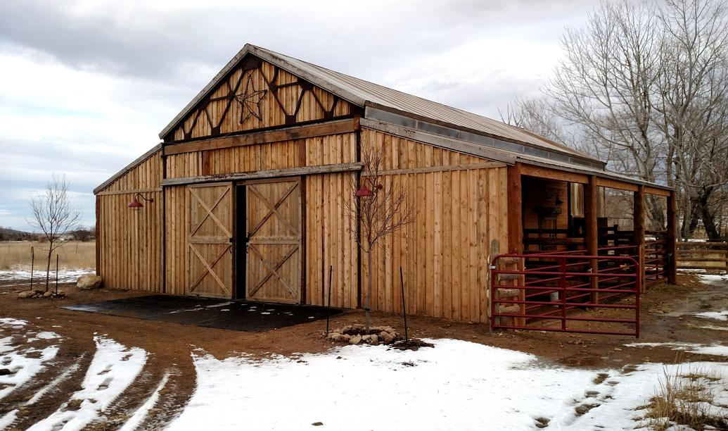 Antique Western look Specialty Horse Barn