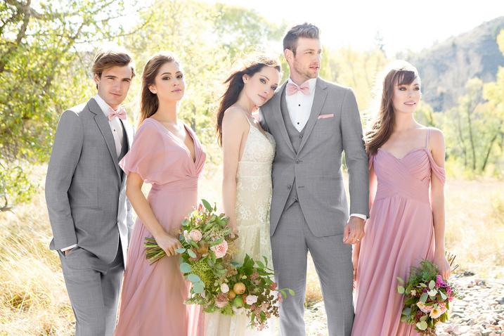 Tuxedos and suits for purchase available from Jim's Formalwear through The Wedding Parlour