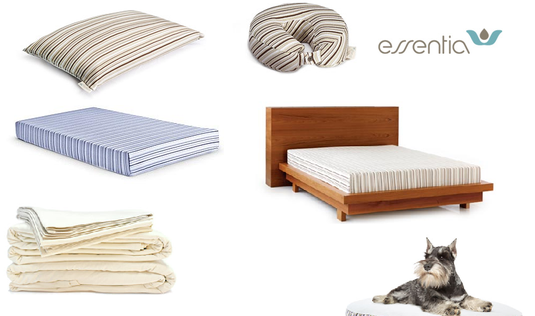 essentia, Organic Hypoallergenic Memory Foam Mattresses and PIllows; Discount code FYZ017
