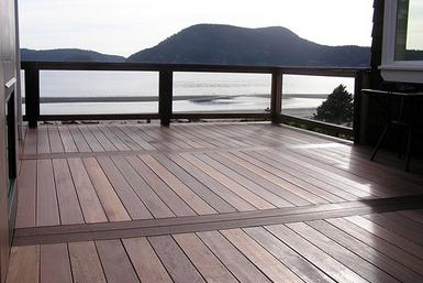 Red Batu Mahogany Decking is durable and affordable