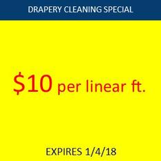 Drapery cleaning special