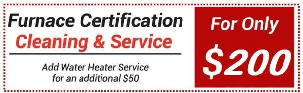 Furnace Clean and Certification $200