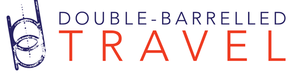 Travel Blogger, logo link to double barrelled travel site