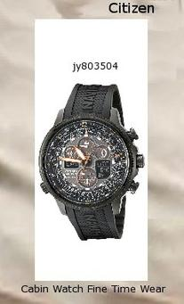 Watch Information Brand, Seller, or Collection Name Citizen Model number JY8035-04E Part Number JY8035-04E Model Year 2013 Item Shape Round Dial window material type Mineral Display Type Analog Clasp fold-over-buckle-with-hidden-double-push-button Metal stamp None Case material Stainless steel Case diameter 46 millimeters Case Thickness 13 millimeters Band Material Polyurethane Band length Men's Standard Band width 23 millimeters Band Color Black Dial color Black Bezel material Stainless steel Bezel function Slide-rule Calendar Perpetual calendar Special features Chronograph, Second hand, Luminous Item weight 4 Ounces Movement Japanese quartz Water resistant depth 660 Feet,citizen watch