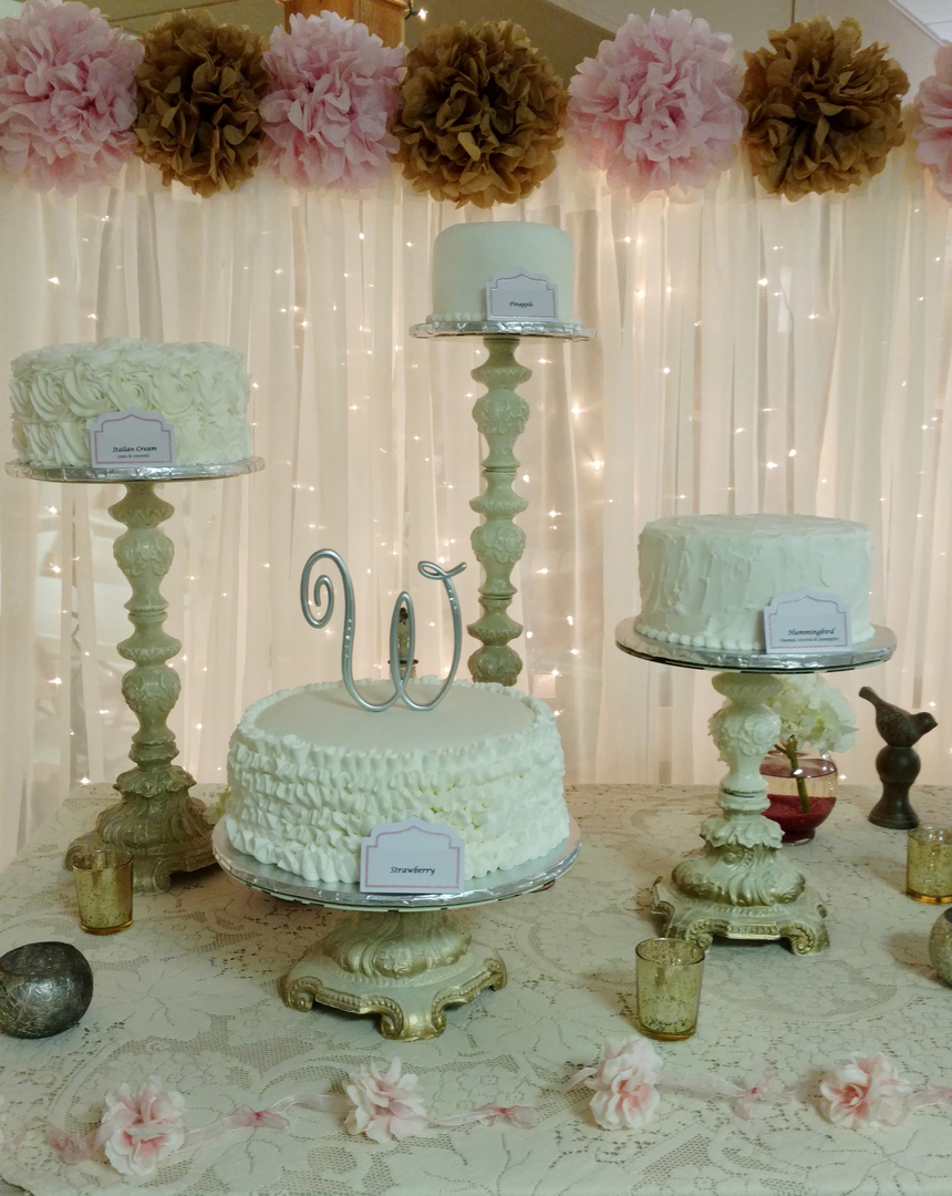 Custom made cakes and cookies in West - Wedding Cakes 5 Cupcakes ...