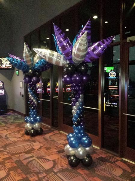 Casino New Years Eve Taper Tower Balloon Columns
