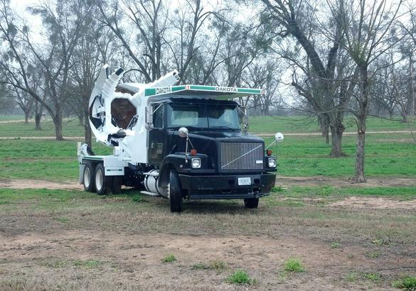 A truck that has one of our tree spades for sale in Tifton, GA