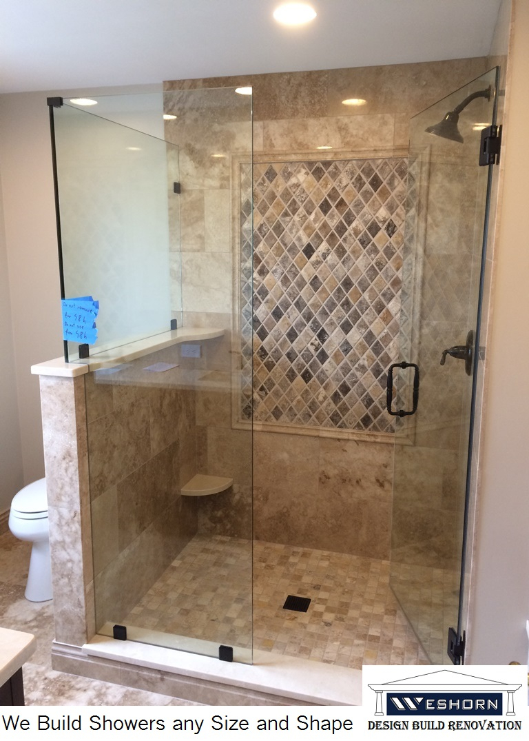Shower Stalls, Enclosures, Frameless Glass Shower Doors Installation ...