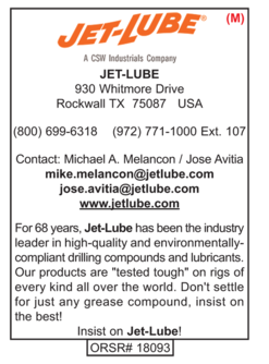 Drilling Supplies, Jet-Lube