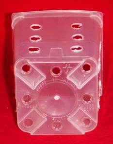 clear plastic orchid pot 3.5 inch square drilled holes small extra drainage ventilation raised bottom