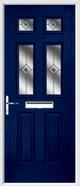 2 Panel 4 Square Composite Door fusion glass