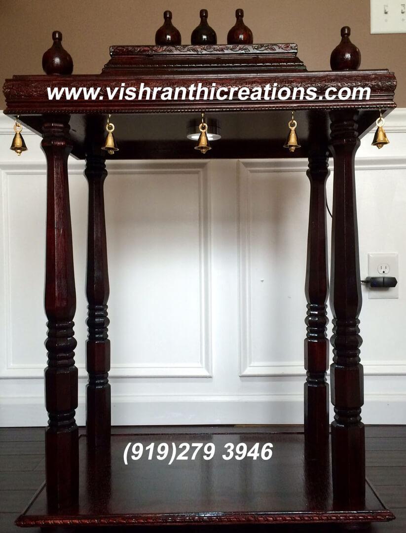 Pooja Mandir under $500 - Vishranthi Creations USA